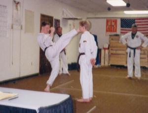 David & Dan in Taekwondo